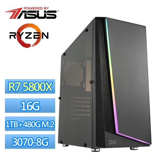● AMD Ryzen-7 5800X 八核心處理器● 華碩 PRIME B550M-A (WI-FI) 主機板● 8G DDR4-3200 *2 高速記憶體● 1TB 硬碟● 480G M.2 SS