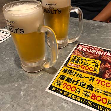実際訪問したユーザーが直接撮影して投稿した西新宿居酒屋大分からあげと鉄板焼 勝男 西新宿応援団の写真
