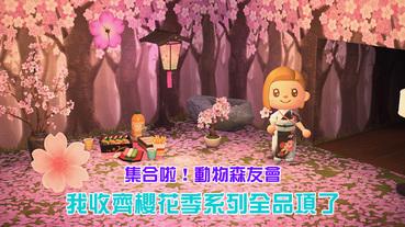《集合啦!動物森友會》全套櫻花系列我收齊了!