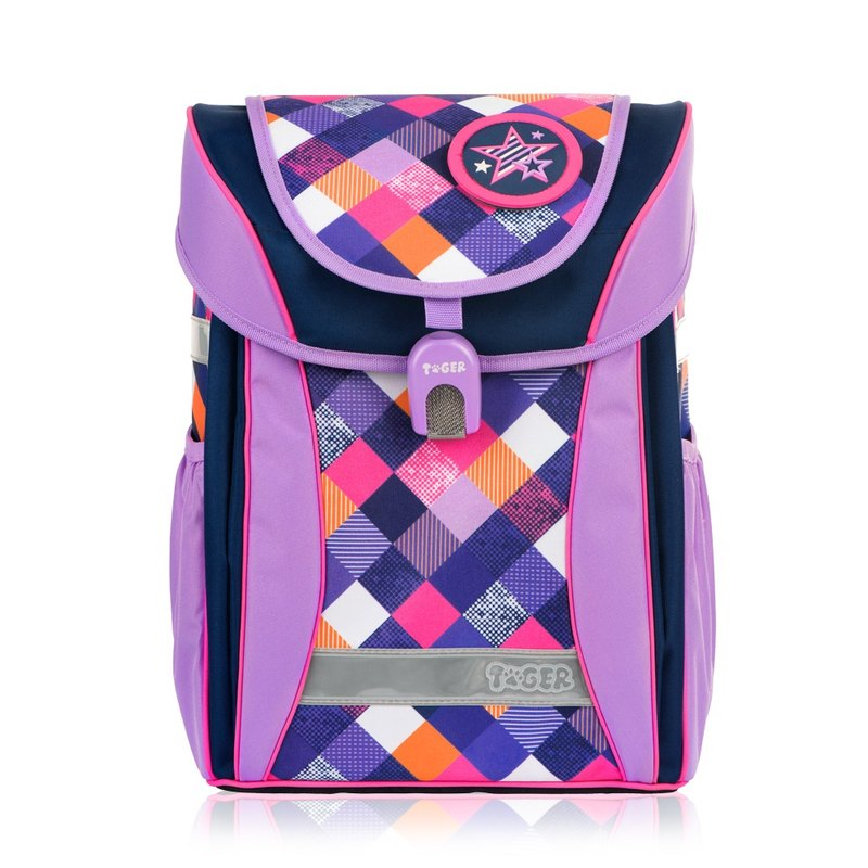 TigerFamily學院風超輕量護脊書包-優雅紫