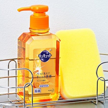 日本 KAO 花王 Kyukyutto 洗碗精 240ml 洗碗 清潔劑 清潔 廚房 除菌 油垢 洗碗精N600787