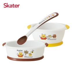 Skater離乳餐碗+深口盤+湯匙(維尼)