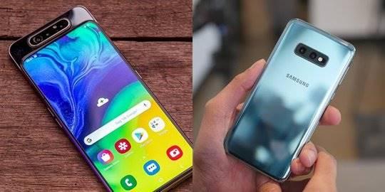 Samsung A80 vs Samsung S10e. ©2019 Merdeka.com