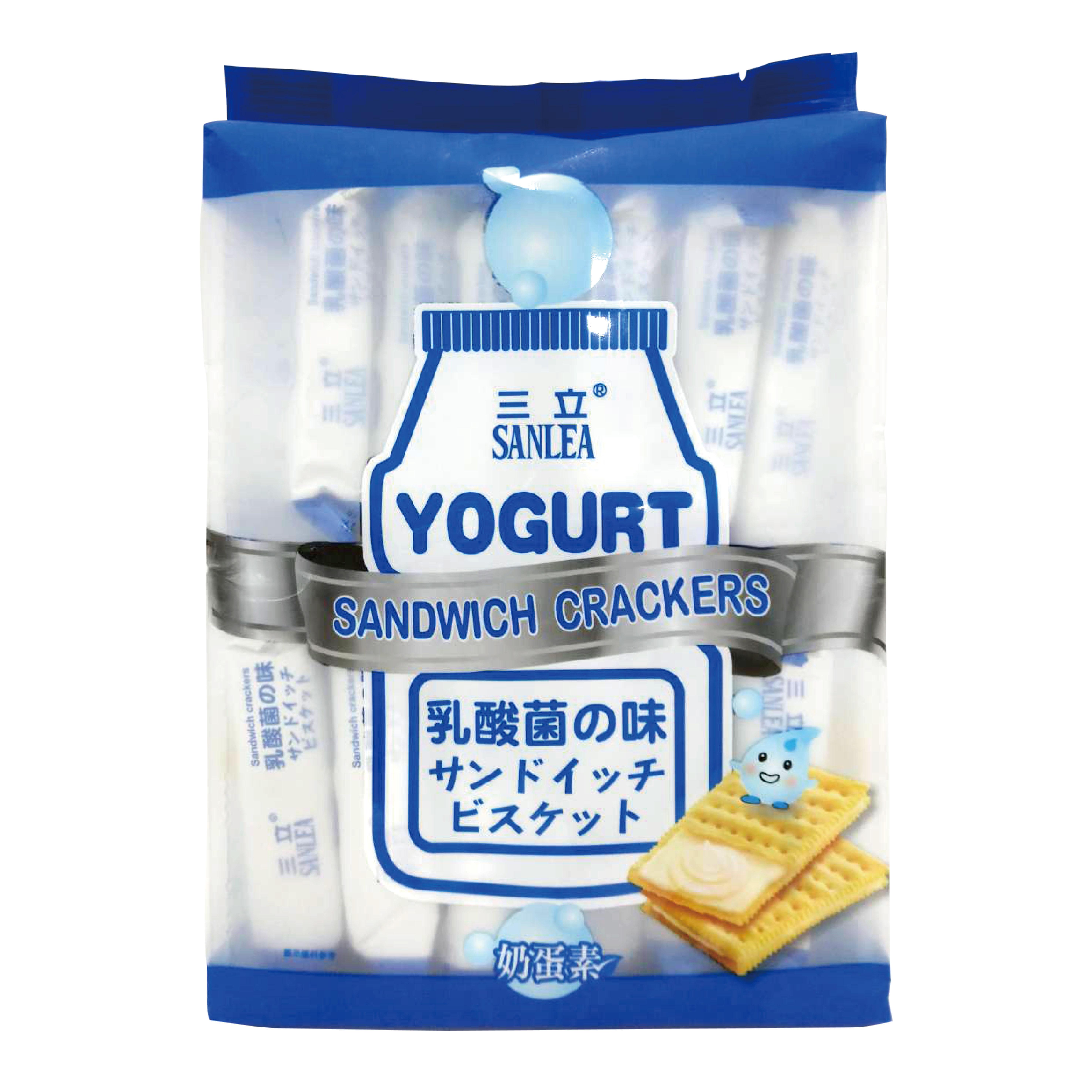 日本 三立 健康日誌夾心餅 三明治餅 乳酸菌風味360g