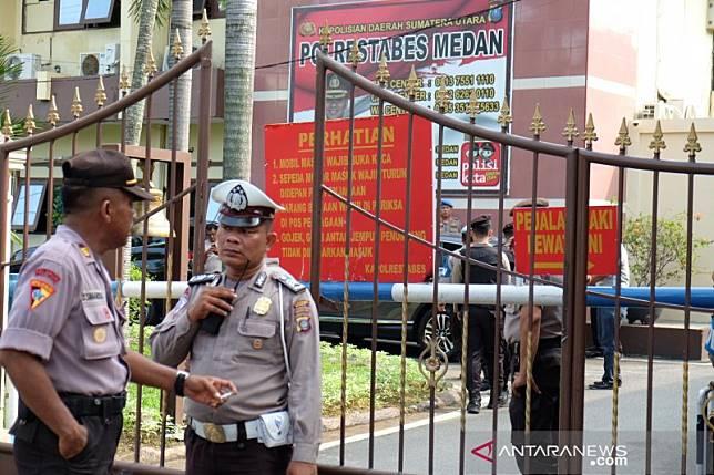 Bom Medan, Densus olah TKP ledakan di Polrestabes