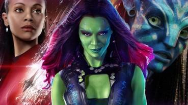 〔復仇者聯盟〕 《復仇者》「葛摩菈」柔伊·莎達娜努力看的到!正式在好萊塢星光大道留名!