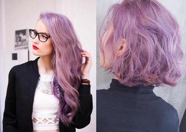 粉紫紅色 髮色
