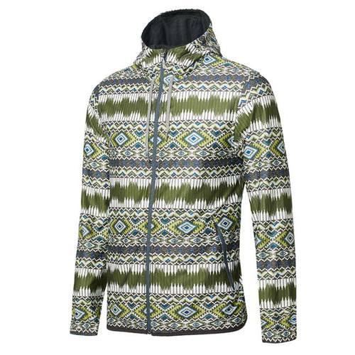 荒野wildland 男彈性針織功能印花外套-綠色