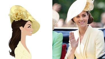 英國皇室凱特與梅根成為畫中主角?插畫家Adrián Valencia筆下的英國皇室經典時刻!