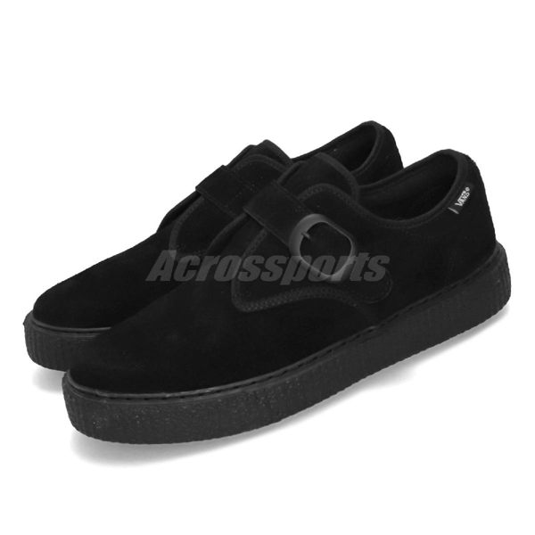 Vans 滑板鞋 Monk Strap CRP 黑 全黑 男鞋 女鞋 運動鞋 麂皮 【PUMP306】 V3490BK