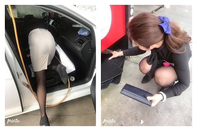 ▲若在洗車場遇到一位天仙級的正妹幫你的愛車做「全套服務」,會不會讓人血脈噴張呢?(圖/ 翻攝自《爆廢公社》)
