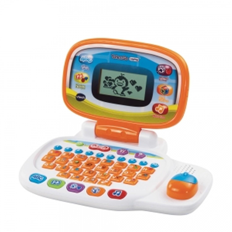 跟孩子一起隨時隨地學習和成長!。個人化孩子的小筆電,可以設定姓名、年齡、喜歡的食物、桌布、開機音樂、頭像。。小筆電提供20種互動學習模式、學習單字、拼寫、形狀、邏輯等,漸進式學習方法,教導各種主題。。