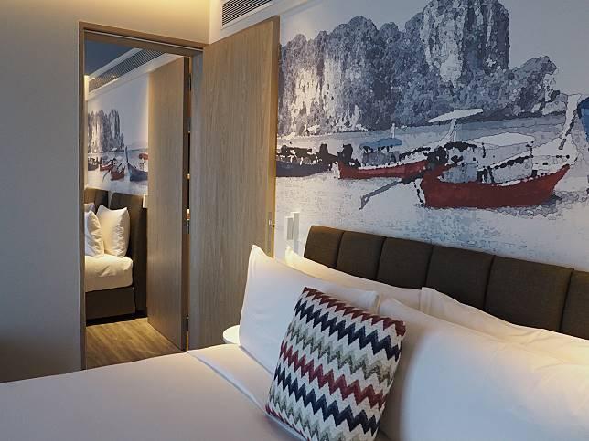 另個房型是兩間客房相連,只隔一度門。