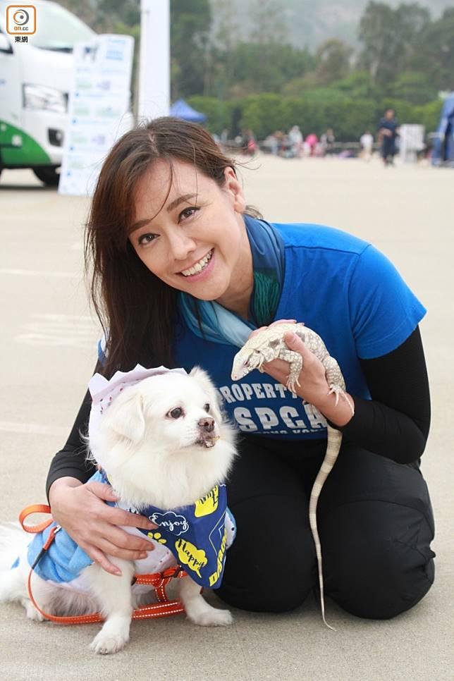 郭秀雲建議暫時唔好帶狗狗外出,減低傳染機會。