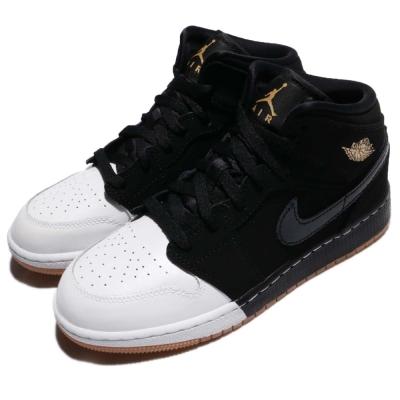 品牌: NIKE型號: 555112021品名: Air Jordan 1 Mid GG配色: 黑色 金色特點: 休閒鞋 喬丹 籃球 AJ1 推薦 女 黑 白 金