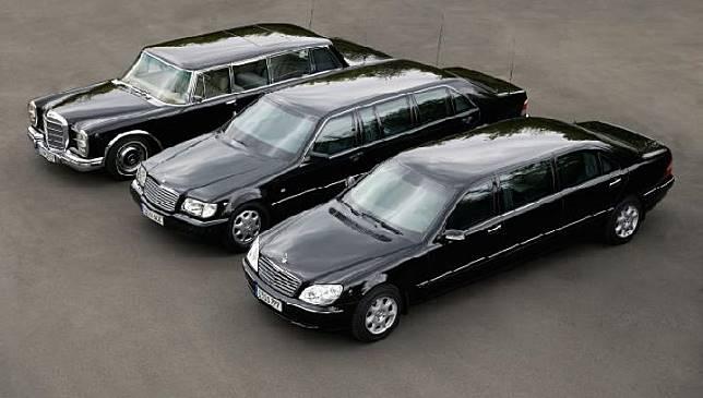 Mercedes-Benz Guard, S-Class, S 600 Pullman. Sumber: Antara