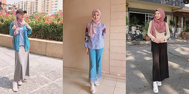 Intip 8 Gaya Hijab Ayana Moon Mualaf Asal Korea