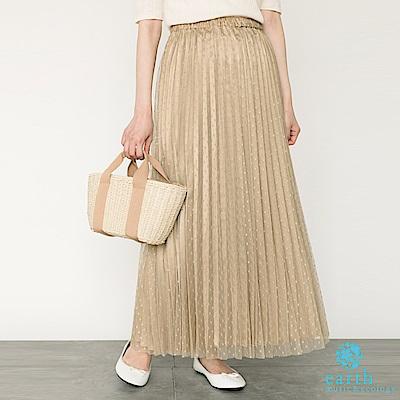 圓點薄紗百摺長裙百摺裙搭配薄紗 浪漫優雅點點圖案 帶出可愛感(1D92L0L1600)