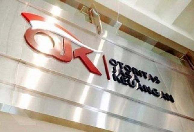 The Financial Services Authority (OJK) logo is seen at its headquarters in Jakarta in this undated file photo. President Joko