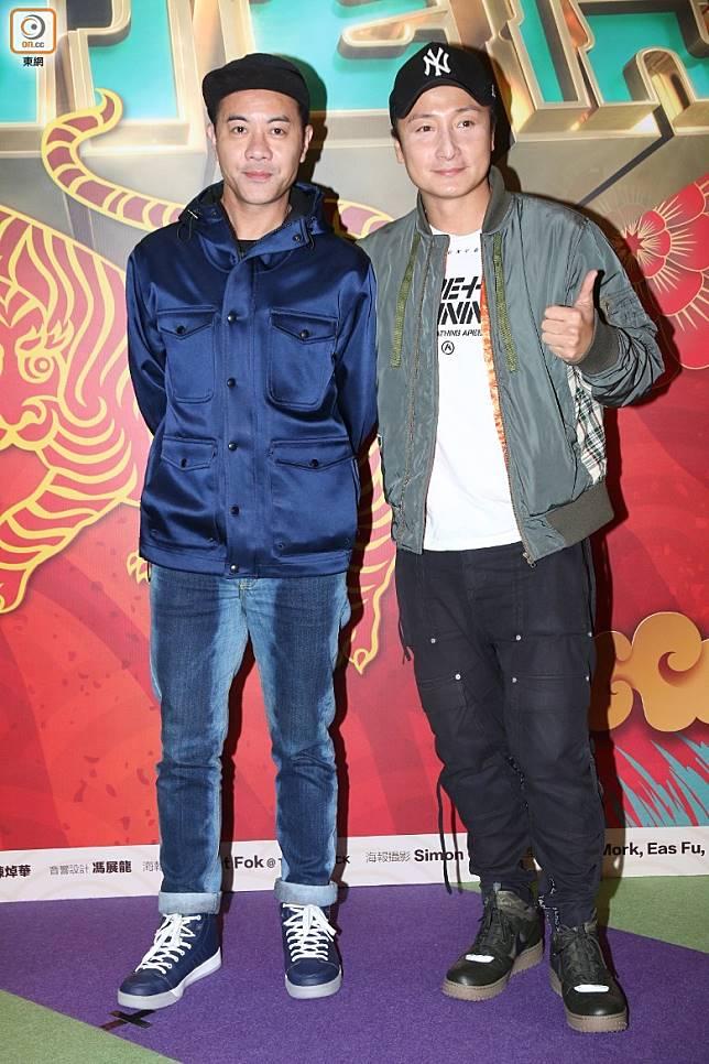 梁漢文(左)打算搞入行30年演唱會。