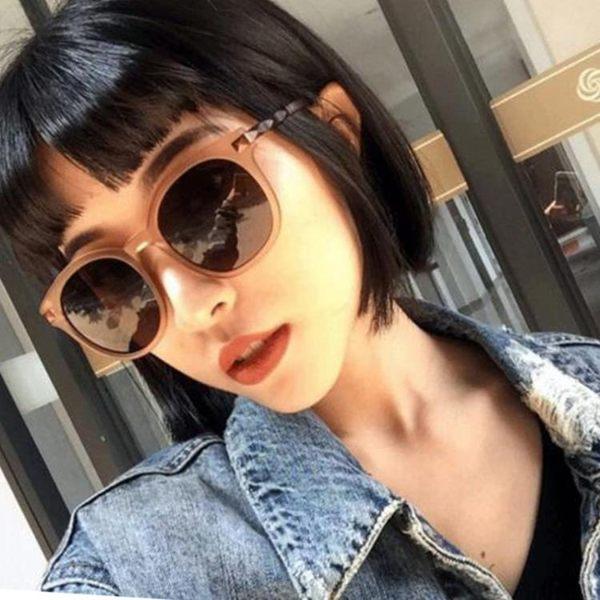 墨鏡 2018春夏新款韓國復古百搭金屬磨砂大框墨鏡簡約茶色時尚太陽鏡【快速出貨八折推薦】