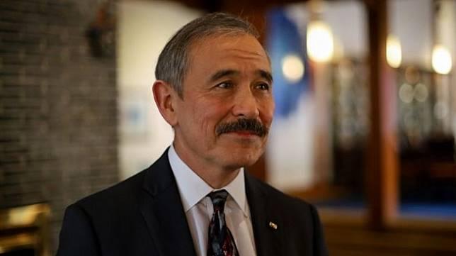 Duta Besar Amerika Serikat untuk Korea Selatan, Harry Harris dengan kumis tebal yang khas. [AFP/Sebastien Berger]
