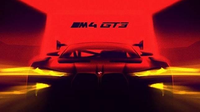Teaser BMW M4 GT3. (BMW)