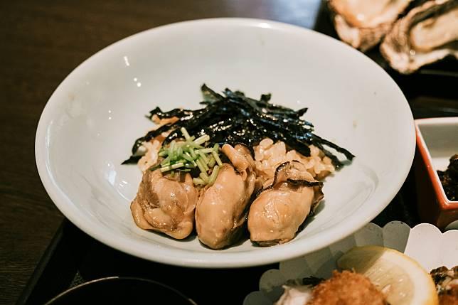 我最欣賞的是這個蠔飯,甘香肥美的廣島蠔佐飯超美味。
