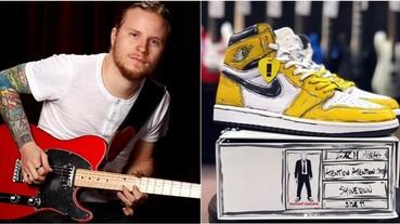 二次元球鞋設計當道!Shinedown 吉他手訂製的 AJ 1 看起來「假到不行」