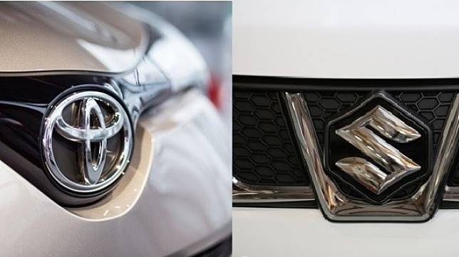 Ilustrasi logo Toyota dan Suzuki. [Shutterstsock]