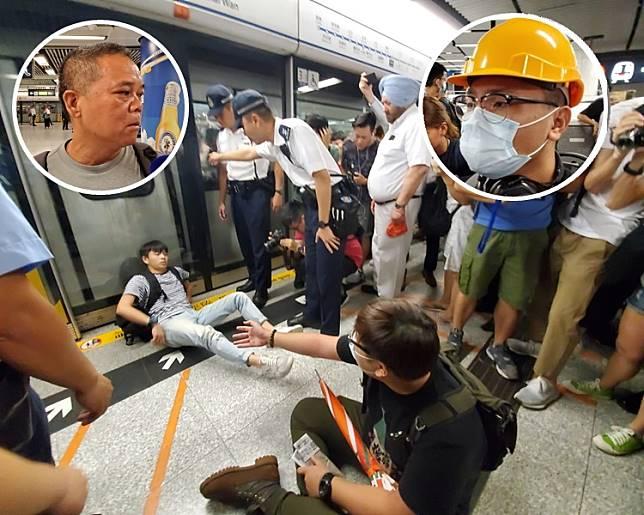 陳先生(左小圖)認為唔好阻人返工,吳先生(右小圖)指被職員凶神惡煞對待。