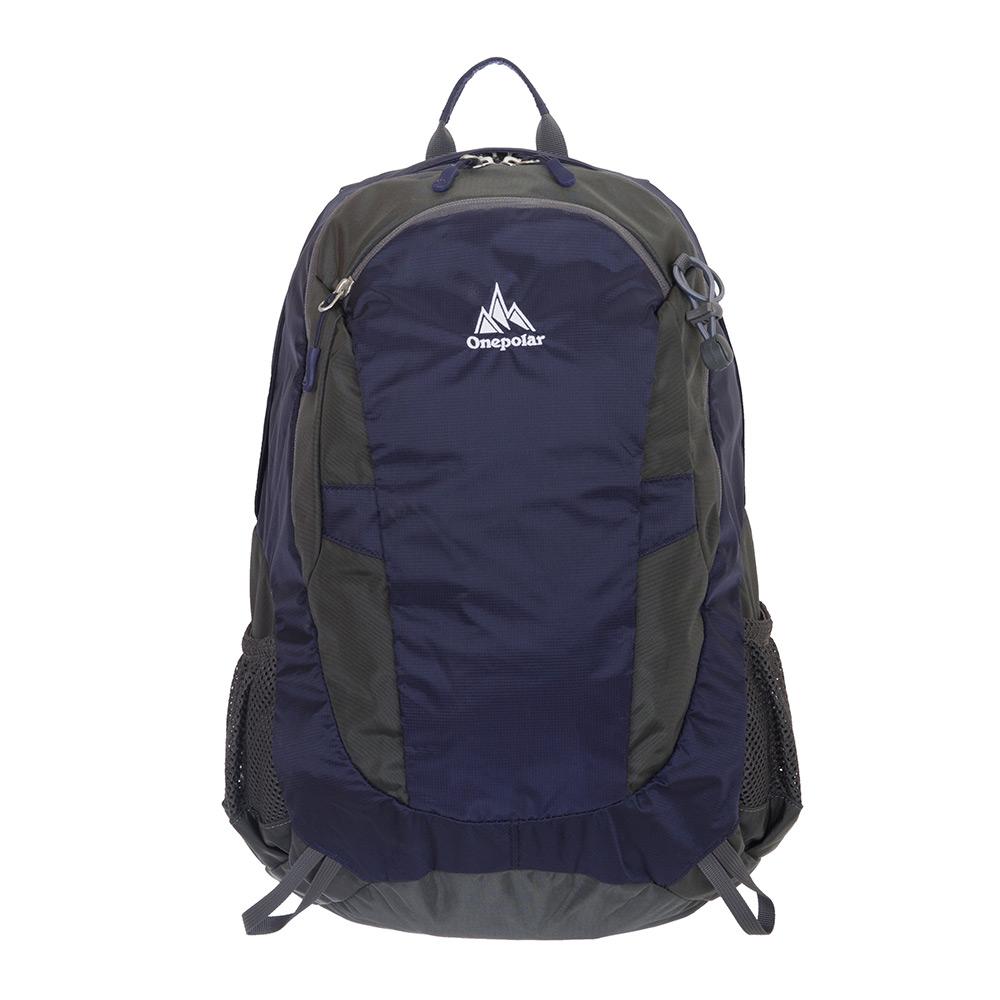 【ONE POLAR】樂活羽量透氣後背包附雨罩 22L-深藍 PL02322NY