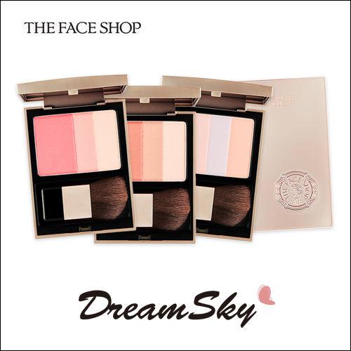韓國 The Face Shop 三色 腮紅 修容 打亮 紅潤 好氣色 頰彩 (6g/盒) DreamSky