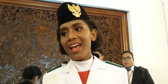 Deno Paskibraka Asal Papua. ©2019 Merdeka.com