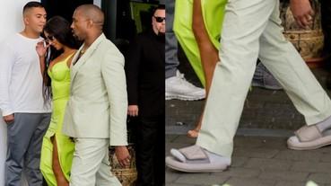 他居然罕見的幽默了?Kanye West 反擊網路上關於拖鞋的抨擊