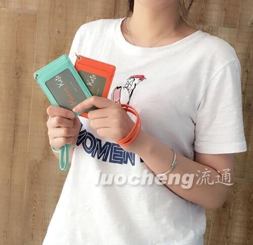 正韓 白領掛繩胸卡工作牌證件卡夾公交卡卡套 基礎款 童趣潮品