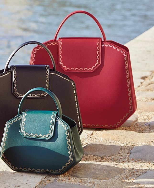 Guirlande de Cartier系列手袋現備有三個不同尺寸,分別是小型款、迷你款和新出的袖珍款。(互聯網)