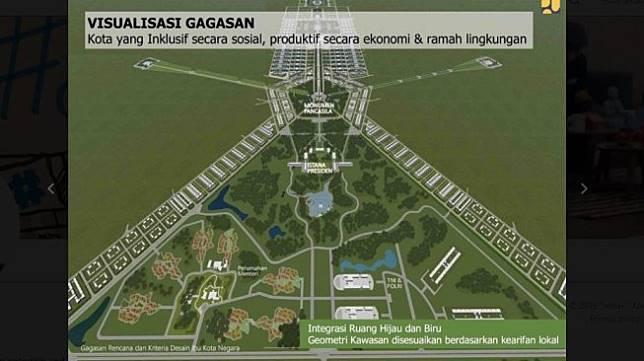 Desain ibu kota baru. [Twitter]