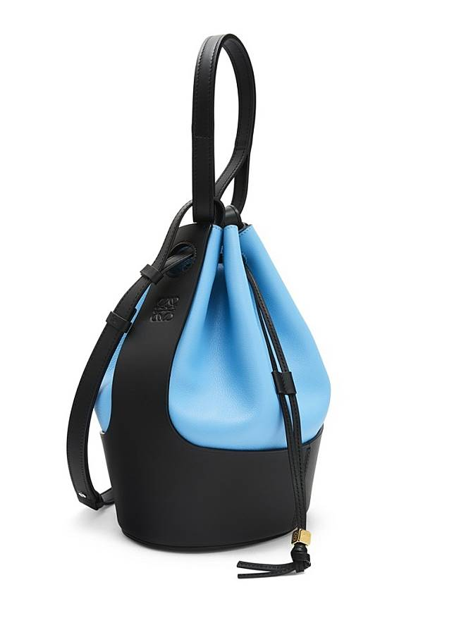 黑拼藍雙色水桶袋(互聯網)