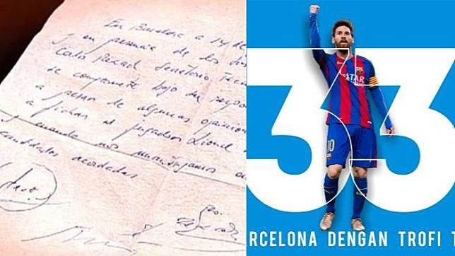 Hari Ini pada 18 Tahun Lalu, Serbet Makan jadi Kontrak Pertama Lionel Messi dengan Barcelona