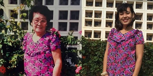 Sang Cucu Menemukan Gaun Yang Digunakan Sang Nenek (Foto: Instagram.@machinemachine)