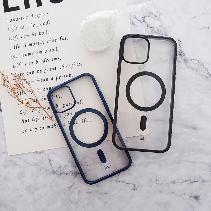 Motif | iPhone 13 防撞編織邊框透明磁性手機保護殻