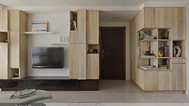 優雅「清美學」,以自然材質打造好感牆&櫃!