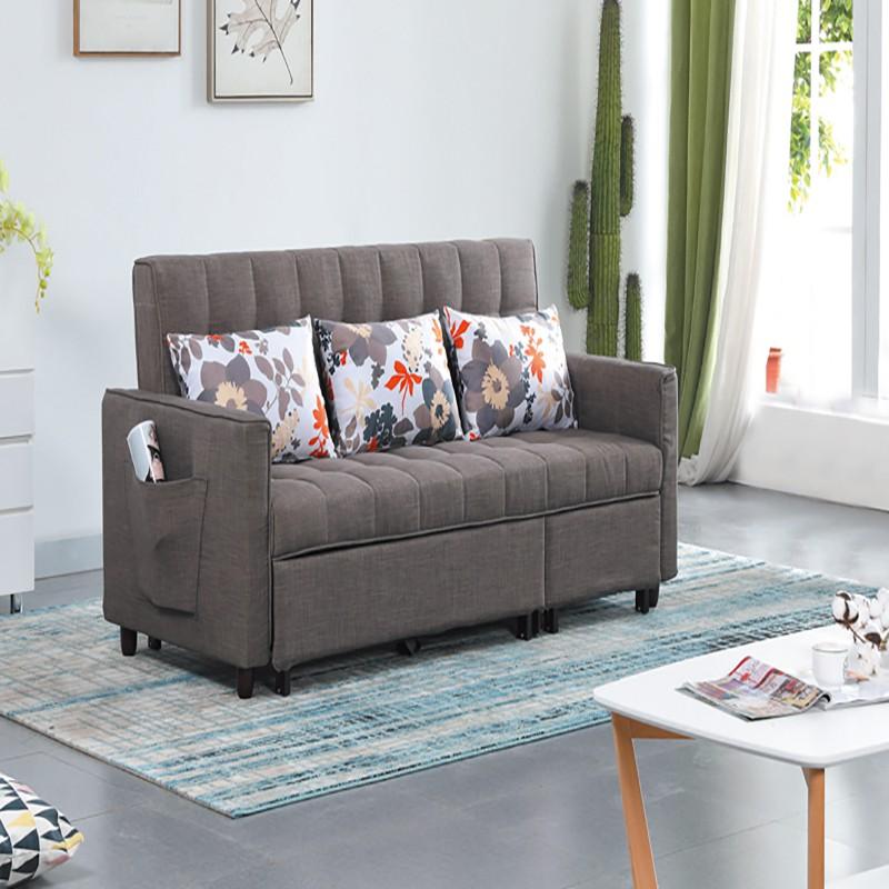 【YC329-2】 布萊頓功能沙發床 W200×D86×H96cm $20,260 【商品材質】*實木+鐵製混合框架 *麻布 *高密度泡棉【是否需要組裝】簡易DIY◎對於忙碌的現代來說,擁有簡約舒適的