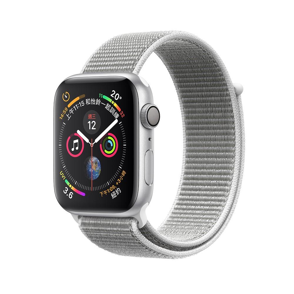 Apple Watch Series 4 GPS 40公釐銀色鋁金屬錶殼搭配貝殼白色運動型錶環 蝦皮24h
