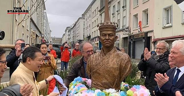 ประดิษฐานรูปปั้นเจ้าพระยาโกษาธิบดี (ปาน) ที่เมืองแบรสต์ ฝรั่งเศส หลักฐานมิตรภาพสองประเทศ