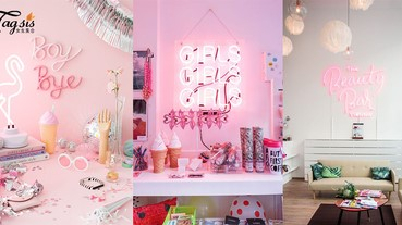 自己也可以DIY!霓虹招牌瞬間提升少女房間質感,悶到不行的房間秒變超有fu~