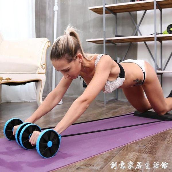 健腹輪回彈卷腹肌輪初學者健身器材家用收腹減肚子馬甲線男女WD 創意家居生活館