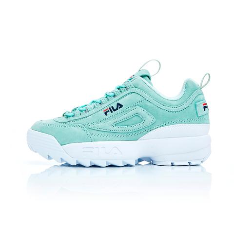 FILA DISRUPTOR2 女復古運動鞋(鋸齒鞋/老爹鞋)-青綠 / 白 5-C113T-320