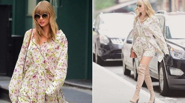 修長美腿逛大街!泰勒絲「音樂時尚風」成功擺脫「幸福肥」!